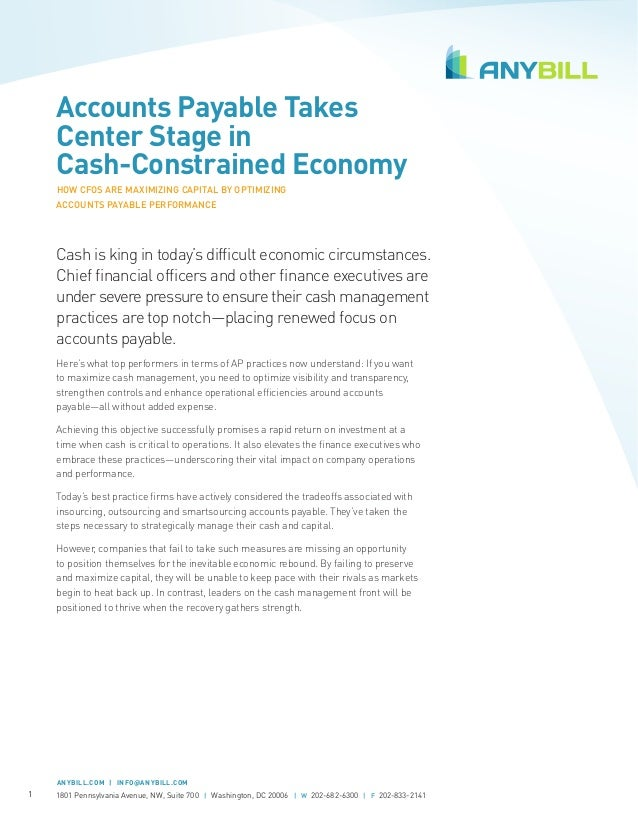 [Whitepaper] AP Takes Center Stage in Cash-Constrained Economy