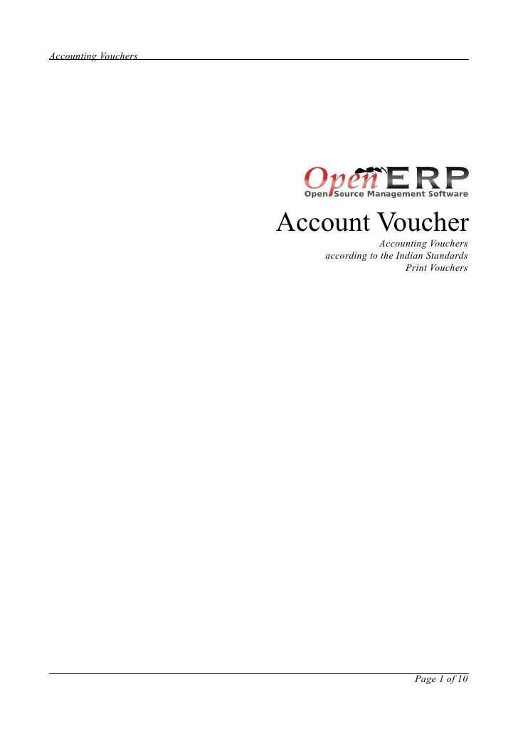 Account voucher