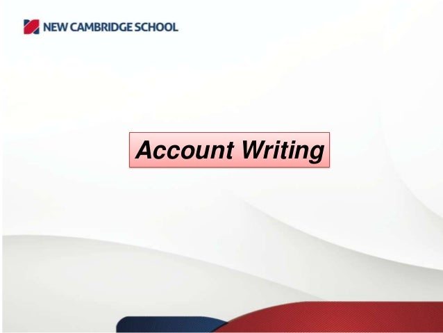 Account writing essay