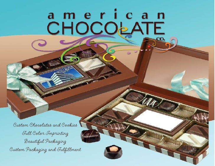 Custom Chocolates and Cookies      Full Color Imprinting       Beautiful Packaging Custom Packaging and Fulfillment