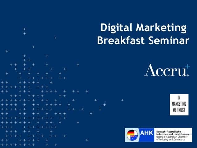 Digital Marketing Breakfast Seminar