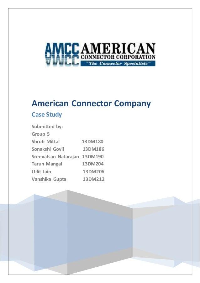 American Connector Company (A)