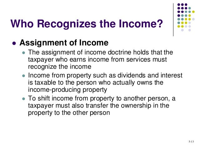 Assignment of income doctrine
