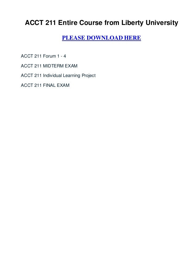acct 211 midterm