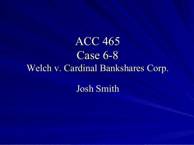 Acct 465 case 6 8 presentation