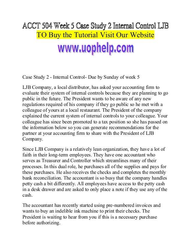 internal controls 2 essay