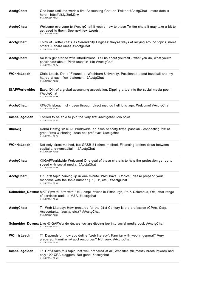 AcctgChat Transcript November 13 2009