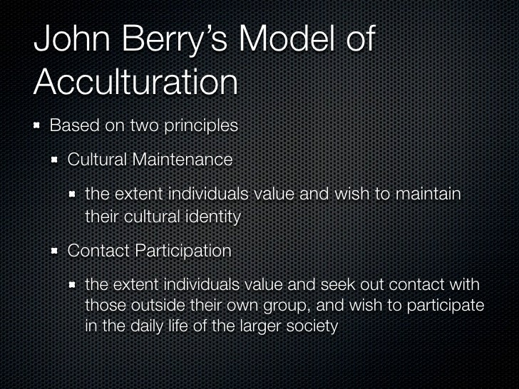 Acculturation Model Re...