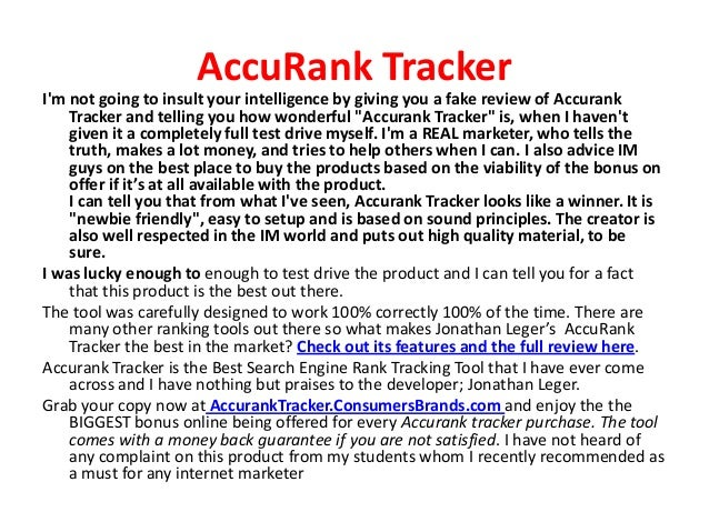 Accurank Tracker