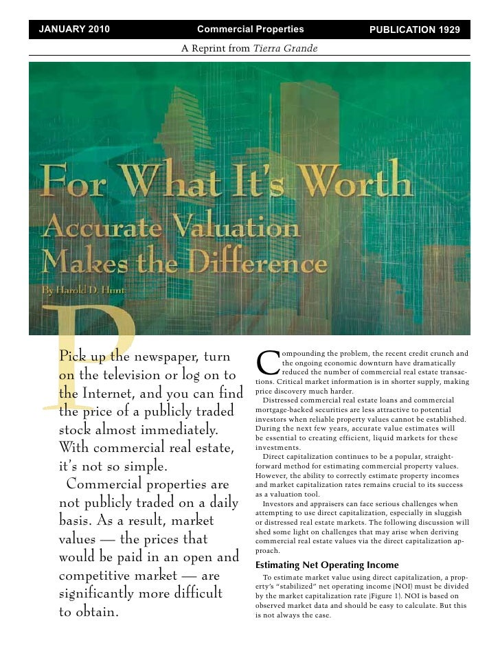 Tierra Grande: Valuation of Commercial Real Estate in Today's Market