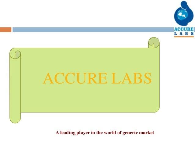 Accure labs presentation