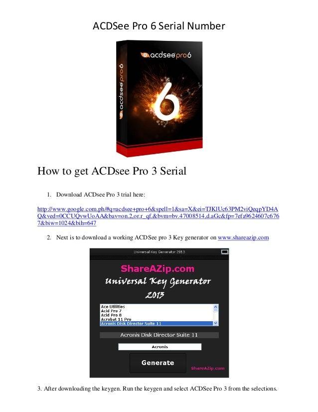 ACDSee Pro 6 Serial Number