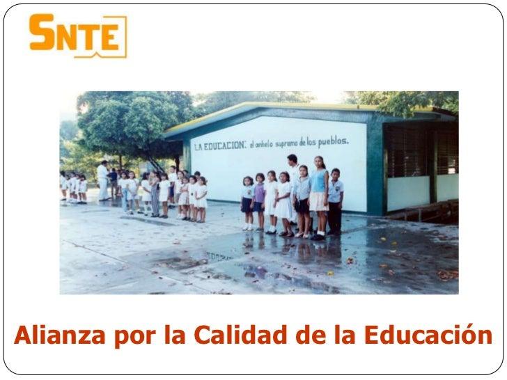 Alianza por la Calidad de la Educación<br />