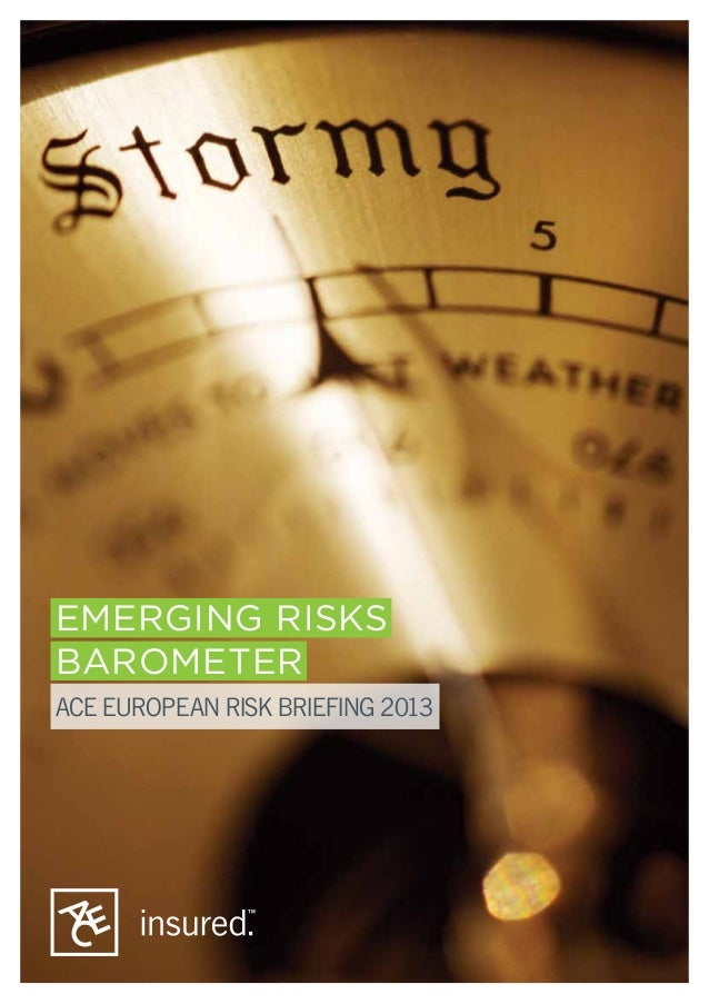EMERGING RISKS BAROMETER ACE EUROPEAN RISK BRIEFING 2013