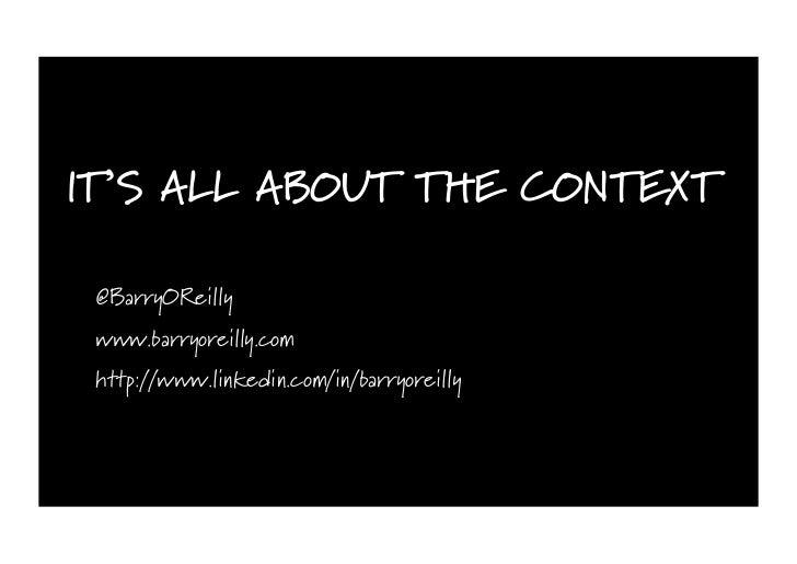 I DON'T DO AGILE, I AM AGILE! @BarryOReilly www.barryoreilly.com http://www.linkedin.com/in/barryoreilly