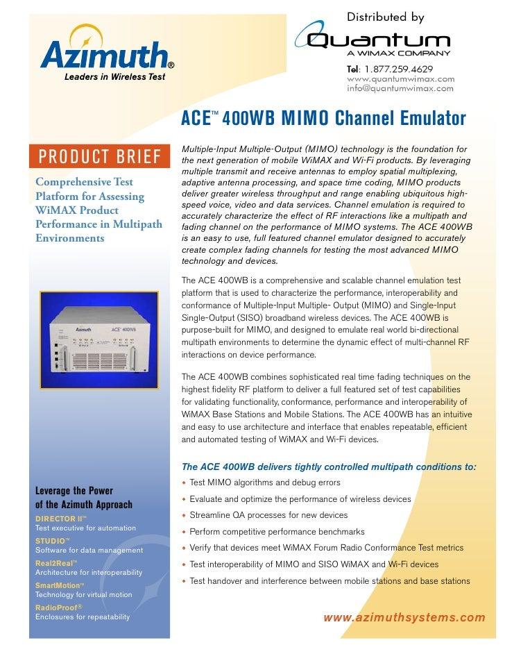 Ace™400 Wb Mimo Channel Emulator (quantumwimax.com)