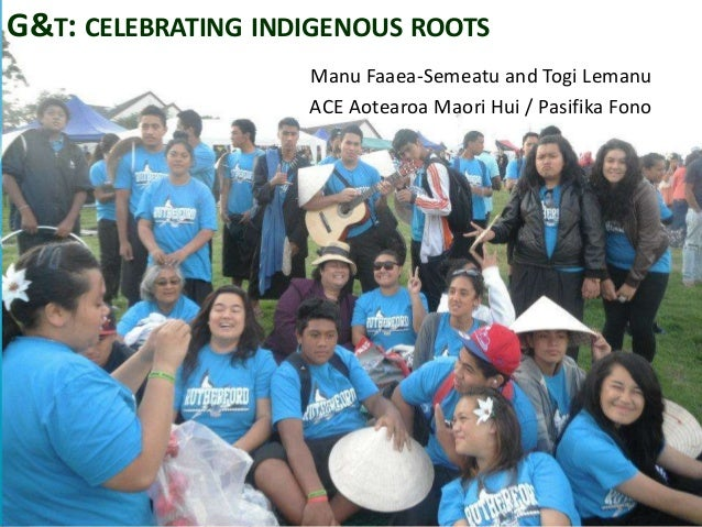 G&T: CELEBRATING INDIGENOUS ROOTS                    Manu Faaea-Semeatu and Togi Lemanu                    ACE Aotearoa Ma...