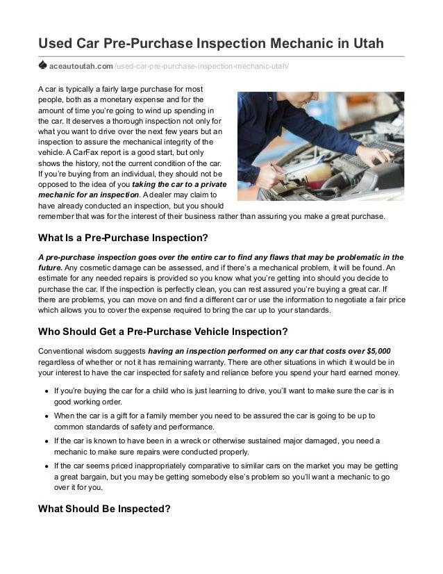 used car pre purchase inspection mechanic in utah. Black Bedroom Furniture Sets. Home Design Ideas