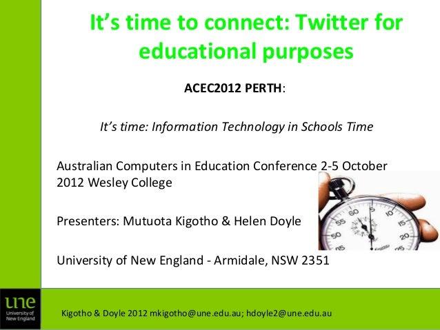 Acec2012 perth presentation september 2012.