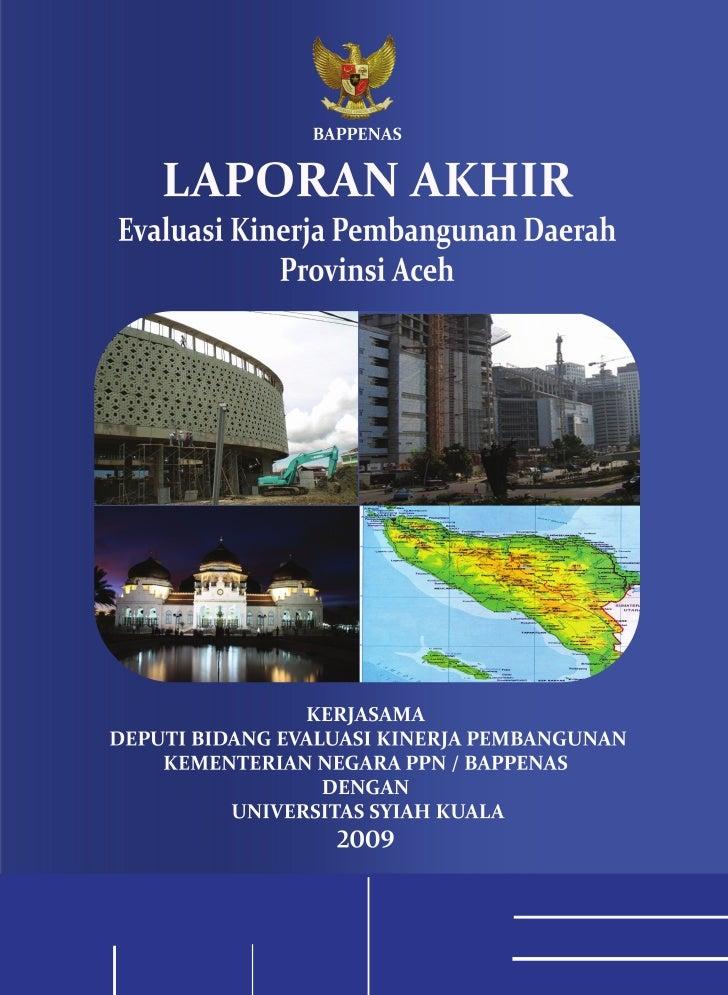 Laporan Akhir EKPD 2009 Aceh - UNSYIAH
