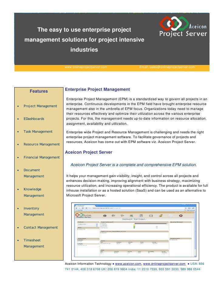 The easy to use enterprise project    management solutions for project intensive                              industries  ...