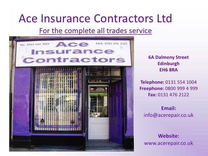 Ace Insurance Contractors Ltd