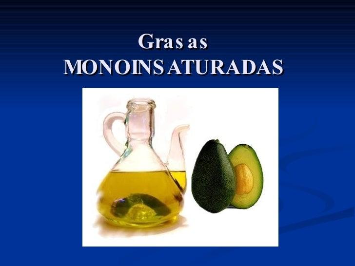 Aceites monoinsaturados