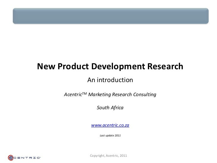 Acentric new product development research for Product development consulting