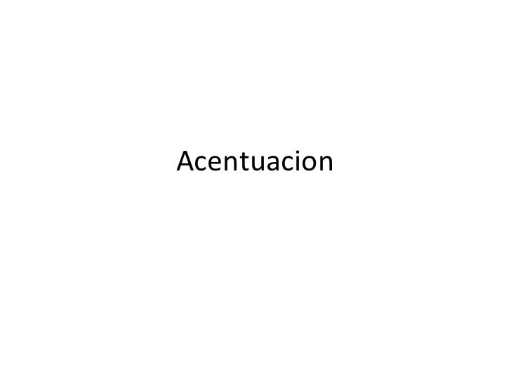 Acentuacion