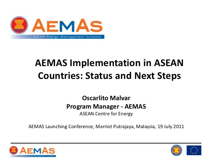 AEMAS Implementation in ASEAN Countries: Status and Next Steps<br />Oscarlito Malvar<br />Program Manager - AEMAS<br />ASE...