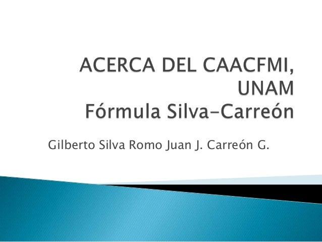 Gilberto Silva Romo Juan J. Carreón G.