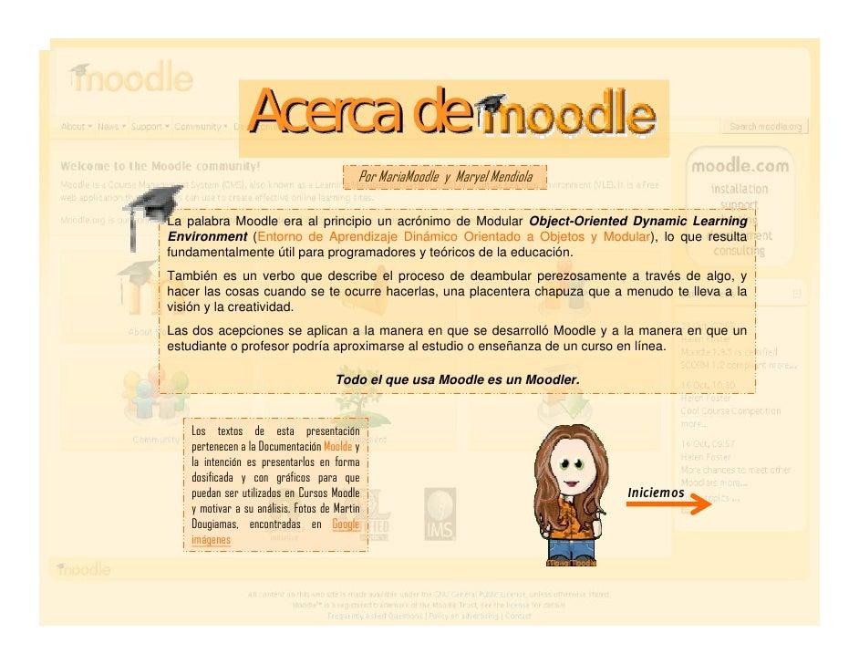 Acercade Moodle