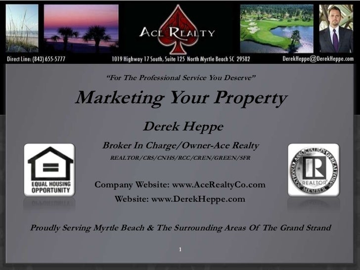 """""""                  """"For The Professional Service You Deserve""""          Marketing Your Property                            ..."""