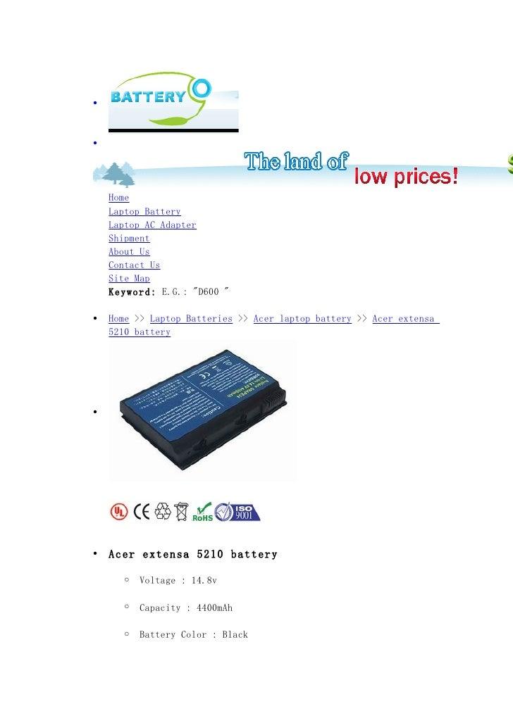 Acer extensa 5210 battery