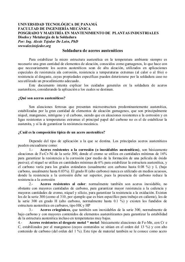 UNIVERSIDAD TECNOLÓGICA DE PANAMÁFACULTAD DE INGENIERÍA MECÁNICAPOSGRADO Y MAESTRÍA EN MANTENIMIENTO DE PLANTAS INDUSTRIAL...