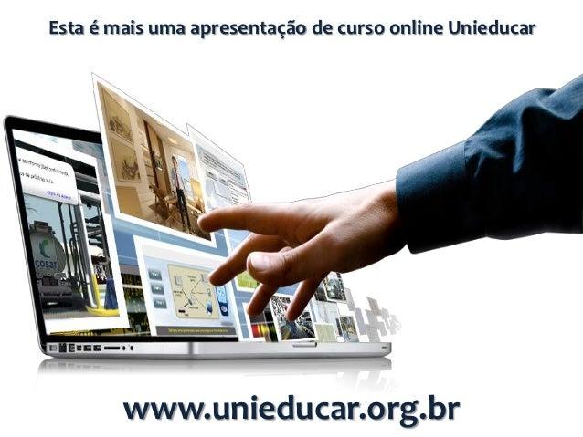 Slides curso online unieducar Acessibilidade e educação inclusiva