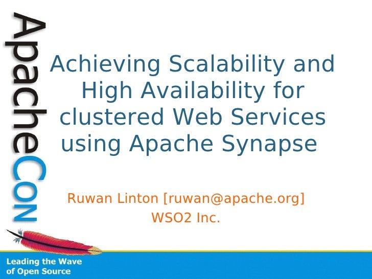 Aceu2009 Synapse Scalability Availability