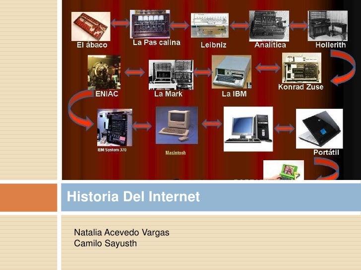 Historia Del Internet Natalia Acevedo Vargas Camilo Sayusth