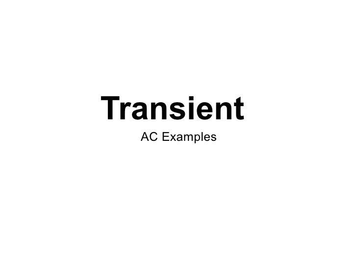 Transient   AC Examples