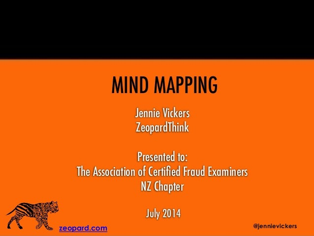 Jennie Vickers ZeopardThink Presented to: The Association of Certified Fraud Examiners NZ Chapter July 2014 zeopard.com MIN...