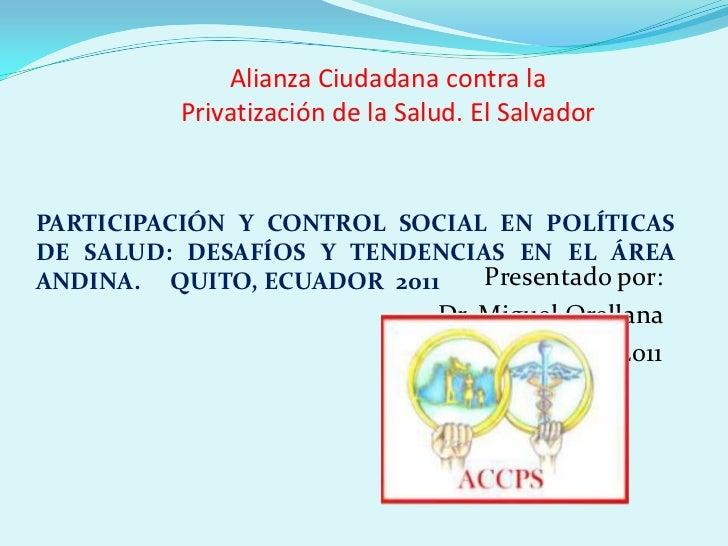 Ac foro salud El Salvador