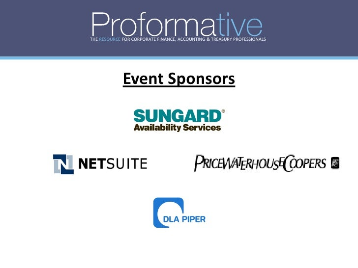 THE RESOURCE FOR CORPORATE FINANCE, ACCOUNTING & TREASURY PROFESSIONALS                  Event Sponsors