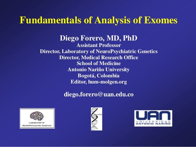 Fundamentals of Analysis of Exomes