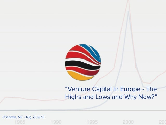 """""""Venture Capital in Europe - The Highs and Lows and Why Now?"""" Charlotte, NC - Aug 23 2013"""