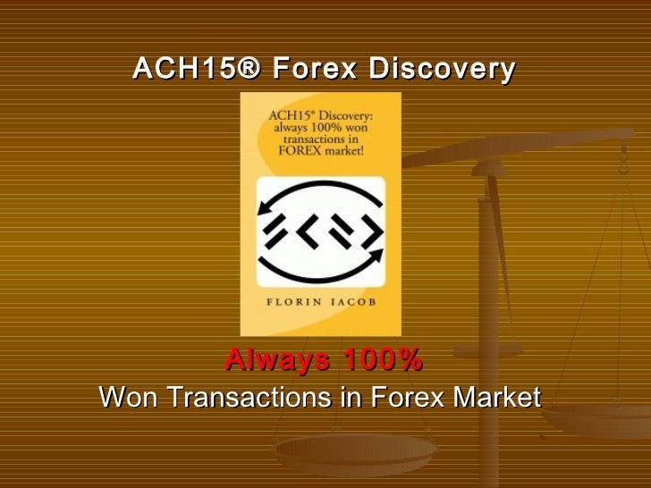 100% Won Transaction - Unconventional Forex Trading