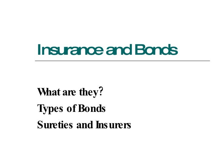 ACH 216 Lecture 05 (Insurance And Bonds)