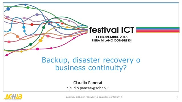 ict disaster recovery plan Every business should have a disaster recovery (dr) plan the process of  writing one will force you to do the thinking in advance of it being.