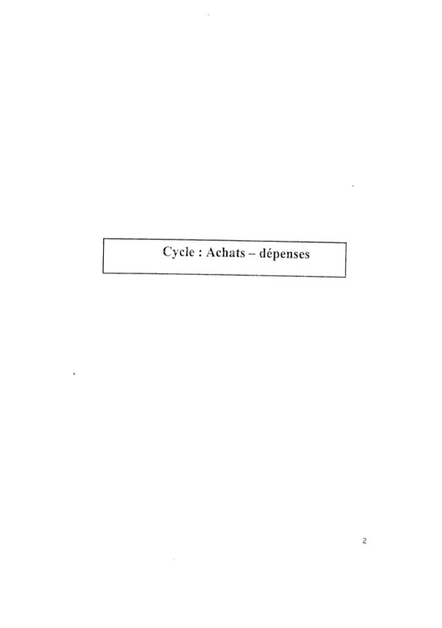 Achats depenses procedure