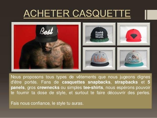 Nous proposons tous types de vêtements que nous jugeons dignes  d'être portés. Fans de casquettes snapbacks, strapbacks et...