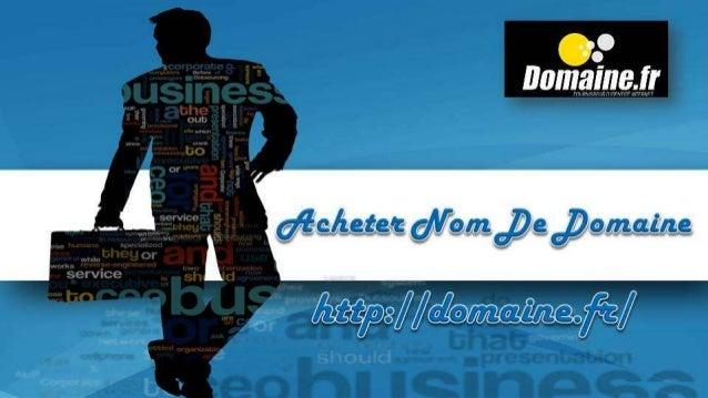 Acheter Nom De Domaine